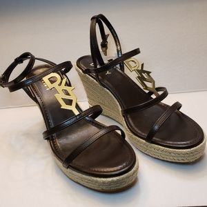 DKNY Platform Leather Sandals